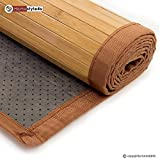 Bambusmatte Bambusteppich Teppich Bambus 200x300 braun