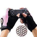 YoRHa Gaming Handschuhe Silikongriff Anti-Rutsch Anti-Schweiß Stoma Atmungsaktiv Design Perfekt bequeme Passform.Perfekt zum halten PS4,Xbox One,Switch und andere Game Controller(Rosa) M 3.6-4