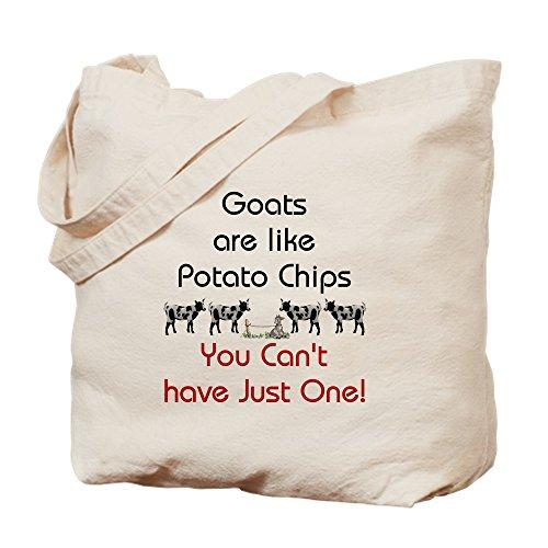 CafePress-Ziegen sind wie Kartoffel Chips-Leinwand Natur Tasche, Reinigungstuch Einkaufstasche Tote S khaki