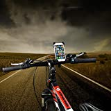 OKOX Handy Fahrradhalterung, Fahrrad Handyhalterung, Smartphone Rad Halter, Universal Halterung 3,5 - 6,5 Zoll, z.B. Apple iPhone Se 5 6 7 8 X, Samsung S6 S7 S8 S9 Plus, Huawei P8 P9 P10 Lite Honor, Sony Xperia, Google, LG, HTC uvm., Flexible Montage am Fahrradlenker, Version 2018