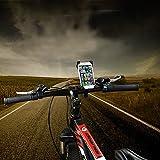 Smartphone Halterung Fahrrad - Perfekter Halt für Ihr Handy - Flexible Einstellung - Sicherer Halt am Lenker - Geeignet für z.B. iPhone 5 SE 6 7 8 X Plus Samsung A3 A5 S5 S6 S7 S8 Edge Huawei Sony