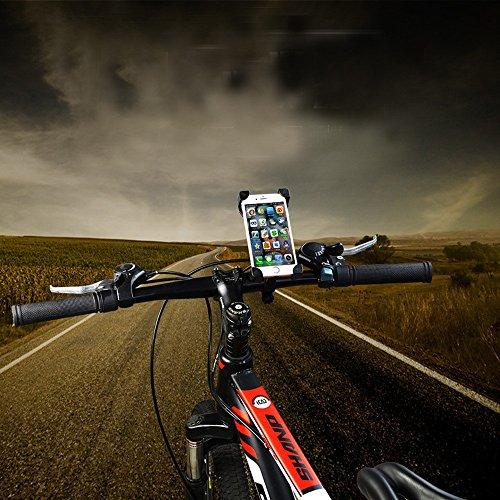 Fahrrad Handyhalterung iPhone 5 SE 6 7 Plus Samsung Galaxy S3 S4 S5 S6 S7 Edge A3 A5 J3 J5 J7 Mini Note - Universal Fahrradhalterung - Handy Halterung - Smartphone Handyhalter – Für alle Apple Huawei LG HTC Sony Wiko OnePlus Lenovo Microsoft Google Pixel Nokia usw.