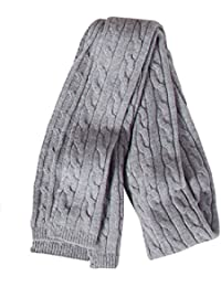 VEDONEIRE Mens Cable Knit Scarf (3104) Grey, Wine, Blue