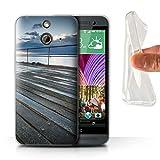 Stuff4 Gel TPU Hülle / Case für HTC One/1 E8 / Pier Sicht Muster / Englische Strand Kollektion