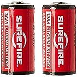Surefire Piles 123A, 3,3x 1,5x 1,5cm, Mixte, Batterien Lithium 123A 3V 2-er Packung, Rouge, 3.3x1.5x1.5 cm
