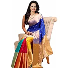 Crazy Trendz Saree For Women Party Wear Half Sarees Cotton Silk New Collection 2018 In Latest With Designer Blouse Beautiful For Women Party Wear Sadi Offer Sarees Collection Kanchipuram Bollywood Bhagalpuri Embroidered Free Size Georgette Sari Mirror Wor