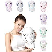 NBD® 7 Color LED máscara Light Therapy LED máscara Photon con cuello, Beaut Facial el cuidado de rajeunissement de la piel fototerapia Tratamiento máscara