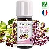 Huile essentielle de MARJOLAINE à COQUILLES BIO - 10 ml - 100% Pure et Naturelle, Biologique, HEBBD, HECT - distillée en France - sommeil anti-insomnies et stress, calmante (Origanum majorana)