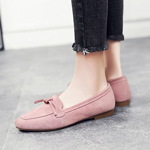 HWF Scarpe donna Shallow Mouth Single Shoes Primavera Scarpe da donna Scarpe basse A Pedal Lazy Shoes Female ( Colore : Nero , dimensioni : 40 ) Rosa