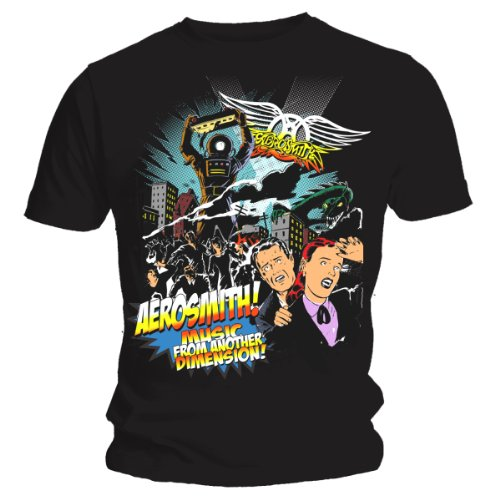 Collectors Mine - Camiseta de Aerosmith con Cuello Redondo de...