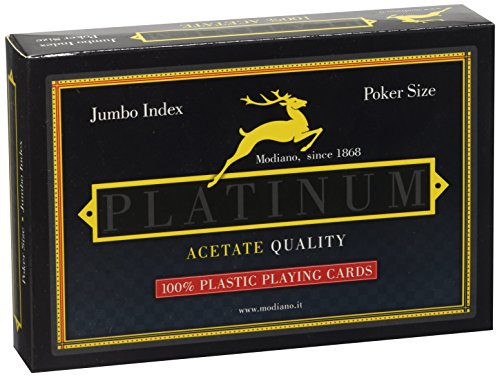 Modiano Spielkarten-Kartenspiel, 4Spieler Platinum Acetate Jumbo Index (Version in Italienisch)