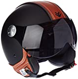"""ARMOR · AV-84 """"Vintage Deluxe"""" · Jet-Helm · Motorrad-Helm Bobber Roller Scooter-Helm Chopper Mofa · ECE certified · Visier · Click-n-Secure™ Clip · Tragetasche · L (59-60cm)"""