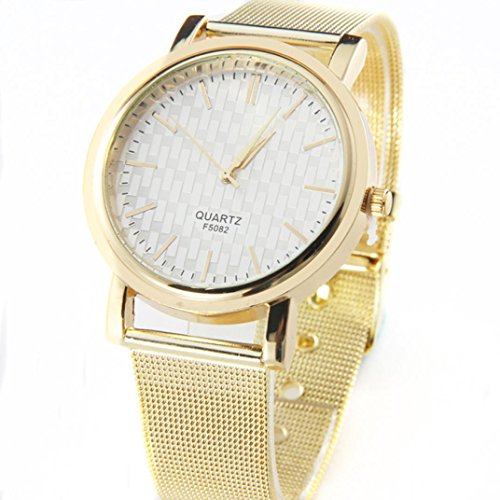 Internet Neuen Gold Classic Womens Quartz Edelstahl Wrist Watch Lady style