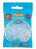 Hama Perlen 501-19 - Mini-Perlen 2000 Stück transparent/weiß