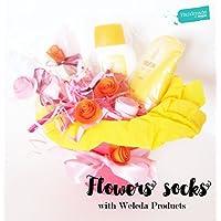 """""""ELISABETTA"""" Baby Shower Gift idea: Idea Regalo per 3 sorelline e per la mamma! Vaso di fiori fatti con tre paia di calzini in Cotone di Marca   Personalizzalo con Prodotti Weleda!"""