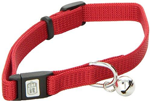 Artikelbild: Catit Nylon Katzenhalsband, verstellbar mit abtrünnigen, Snap, rot