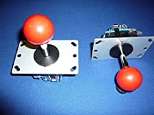Lot de 2 poignées joystick pour borne arcade jamma