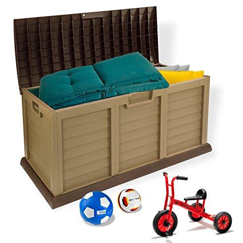 Gartenbox - Kissenbox - Auflagenbox Schoko/creme 390 Liter