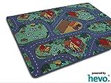 Bauernhof Teppich HEVO® Kinder Strassen Spielteppich   Kinderteppich 145x200 cm
