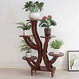 Brisk-Blumenregale- Europäischen Bonsai Blumentopf Rack Massivholz Blumenständer 5 Torr Indoor Wohnzimmer Balkon Montage mehrschichtige Holz ( Farbe : B , größe : 85*106cm )