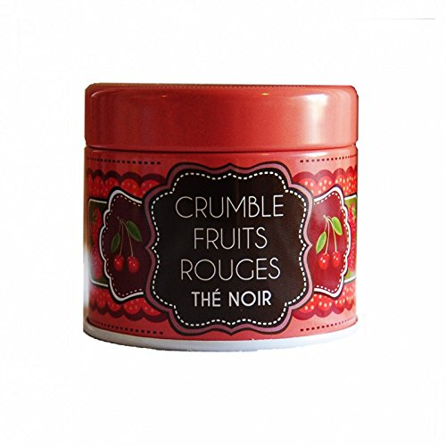 "Schwarzer Tee"" Crumble Fruits rouges"" (Rote Frucht Crumble) -30 Gramm-Metallbox"