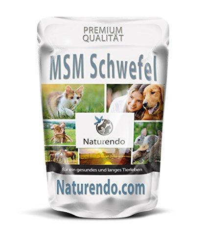 MSM Methylsulfonylmethan Pulver für Hunde, Katzen, Pferde organischer Schwefel 99% (500g)