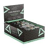 Marchio Amazon- Amfit Nutrition Barretta proteica al gusto di cioccolato alla menta, confezione da 12 (12x60g)