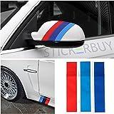 #1: stickerbuy 3Pcs Stripes Car Styling Sticker M Sport Tech Decorative Decal for BMW x1 2 3 4 5 6 Series