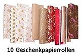 Ausgewählte Serien schönes Geschenkpapier Weihnachten, 10 Rollen a 2m (Serie 6, 10 Rollen)
