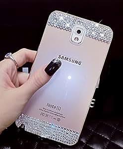 Coque Samsung Galaxy S6 Edge Plus, Luxe Ultra Thin Mince Beauté Alliage Aluminium Métal Bumper Etui Housse avec Cristal de Diamant Back Panneau Protective Case Cover pour Samsung Galaxy S6 Edge Plus 5.7 Pouces - Gold (Or)