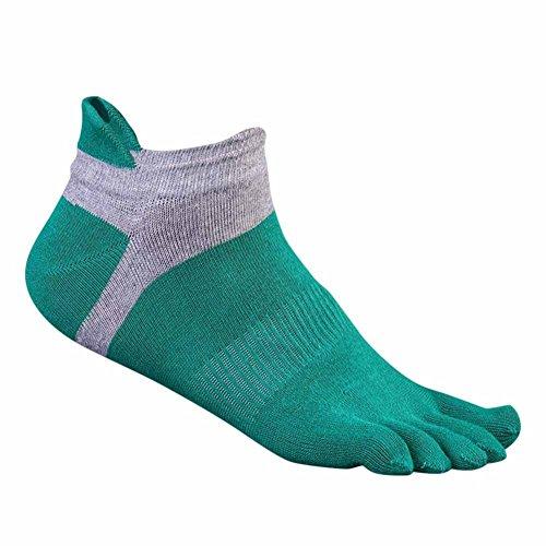 Qlan Cotton Herren Sports Five Finger Toe Socken Atmungsaktive Socken (Low-cut Plain)