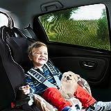 Aodoor 2 unidades Parasol de coche, Proteger Protección UV para bebés, niños, animales domésticos, Coches para ventanas laterales sombras de Sun, Resistencia a los rayos UV y la Reflexión de Luz de Sol