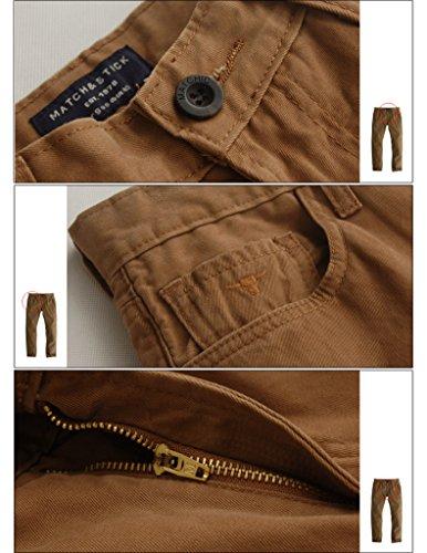 Match Pantalons Casual Slim pour Homme #8032 8032 Foncé marron(Dark brown)