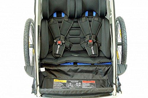 Sitzpolster Babysitz für Qeridoo Fahrradanhänger Sportrex2, Speedkid2, KidGoo2 - 4