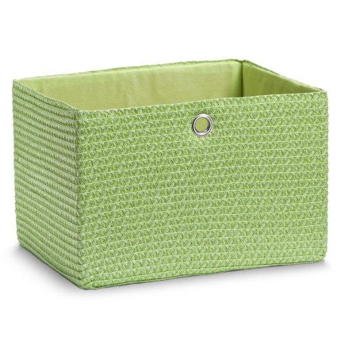 zeller-14065-woven-basket-green-33-x-26-x-22