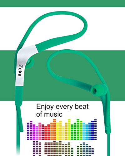 Neon Series Sports Earhook Headset with Mic Compatible For Micromax Joy F145 - Active Green  available at amazon for Rs.325