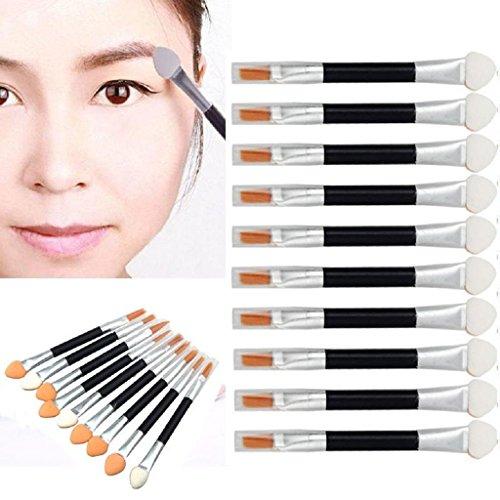 Internet 10Pcs Maquillage Double-terminé Eyeshadow Eyeliner Brush éponge Applicateur outil