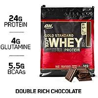 Optimum Nutrition Gold Standard 100% Whey Proteína en Polvo, Doble Chocolate - 4540 g