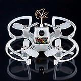 FPV Drohne mit Kamera EMAX PNP 85mm Mirco FPV Racer Drone Brushless (1104 5000kv Brushless Motor, Femto F3 AIO Flight Controller FC, All-in-One Kamera, VTX 25MW CMOS, Bullet 6A BLHeli_S Plug-In ESC)