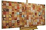 KunstLoft® Acryl Gemälde 'Order of Harmony' 140x70cm | original handgemalte Leinwand Bilder XXL | Abstrakt bunt Deko | Wandbild Acrylbild moderne Kunst einteilig mit Rahmen