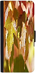 Snoogg Autumn Leaves Designer Protective Flip Case Cover For Apple Iphone 4/4S