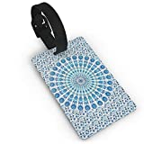 Hippy Mandala Bohemian PVC Luggage Tags Travel ID Labels Tag with Wristband