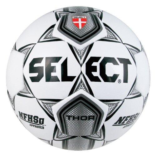 Select Sport America Thor Fußball, Unisex Kinder, 02-650-512, Weiß/Schwarz/Silber, 5