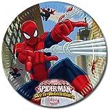 Spiderman, 27339, pack 8 platos para fiestas y cumpleaños spiderman 23 cm de carton.