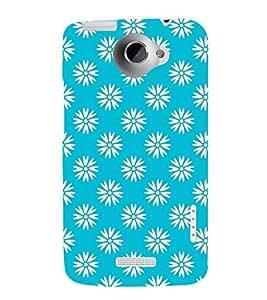 Floral Art 3D Hard Polycarbonate Designer Back Case Cover for HTC One X