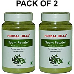Herbal Hills Neem Powder - 100g Each (Pack of 2) Bottle