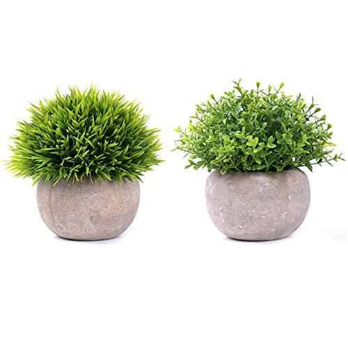 YQing Plantas Suculentas Artificiales Plastico Maceta Decorativas, Plantas Artificiales Verdes para Casa,...