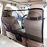BRUSSELS08durevole auto universale sedile posteriore Dog Pet barriera a rete rete di sicurezza guardia con cintura Pet barriera netto per auto SUV Disturb tappo da bambini e animali domestici, Nero , medium