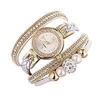 Watches for Women's Beautiful Fashion Bracelet Watch Ladies Watch Round bracelet watch (A, Women's size)