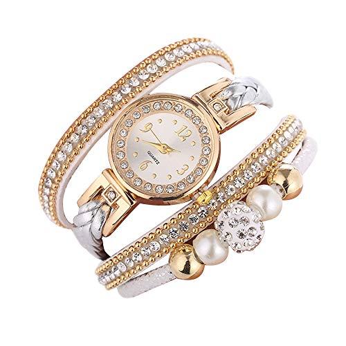Skang Deman Uhren, Diamant Strass Armbanduhr, Mehrere Kreise Einfache Digitaluhr Für Frau Lady Teenager Mädchen(one Size,A)